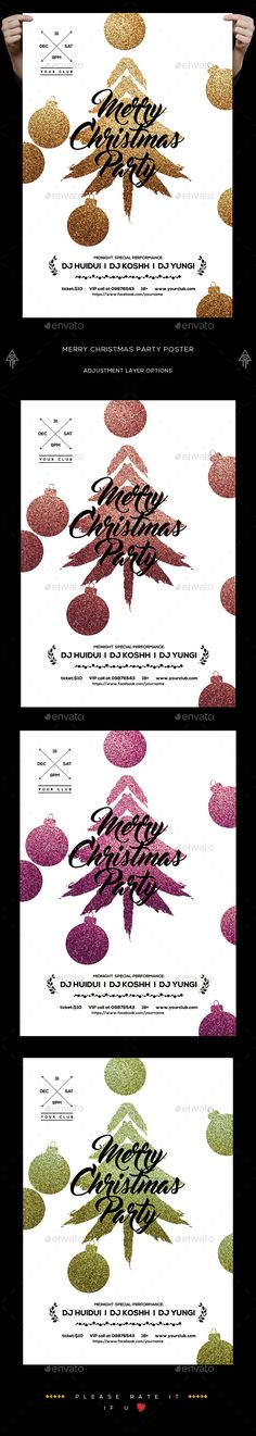 Christmas Party Poster by creatwitter Christmas Party Poster / Flyer The PSD file is very well organized in folders and layers. You can modify everything very easy and