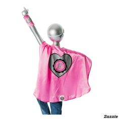 Youth Pink Superhero Costume with Heart,made by Everfan