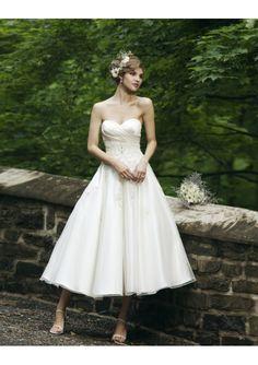 Loving tea length wedding dresses