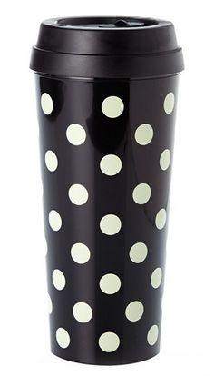 Kate Spade dot thermal mug http://rstyle.me/n/vhztipdpe