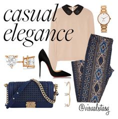 Southern Chic Style by visualxtasy on Polyvore featuring polyvore fashion style N°21 Christian Louboutin Chanel Kate Spade Allurez Delfina Delettrez clothing