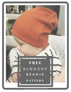 Excited to share this item from my shop: Slouchy Beanie Hat Pattern / PDF Pattern / Sewing Tutorial / Baby, Kids, Adult Beanie Hat Pattern Dress Sewing Tutorials, Sewing Basics, Sewing For Beginners, Sewing Ideas, Sewing Projects For Kids, Sewing For Kids, Baby Sewing, Sewing Diy, Free Sewing