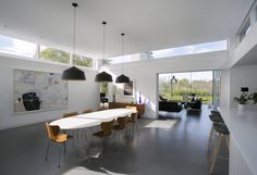Interior Design Ideas and Home Decor Inspiration Living Room Windows, House Windows, Living Spaces, High Windows, Modern Windows, Clerestory Windows, Skylights, Glass House Design, Interior Windows
