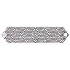 Diamond pattern Liquid Metal bracelet.. Eye catcher!