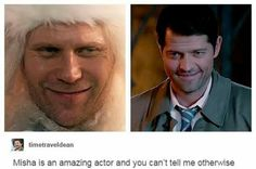 Actually I think it was more like Misha getting to be Misha
