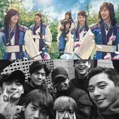Dojihan with other hwarang cast (last episode) #dojihan #parkhyungsik #parkseojun #choiminho #kimtaehyung