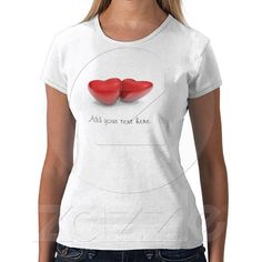 Valentine's hearts tshirts from Zazzle.com
