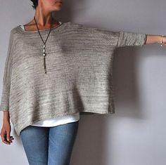 NobleKnits.com - Joji Boxy Pullover Sweater Knitting Pattern, $8.95 (http://www.nobleknits.com/joji-boxy-pullover-sweater-knitting-pattern/)