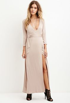 Maxi Wrap-Waist Dress   Forever 21 - 2000181806