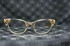 50s Cat Eye Glasses 1950s Tura Eyeglasses Gold by THAYEReyewear