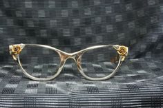 50s Cat Eye Glasses 1950s Tura Eyeglasses Gold by THAYEReyewear