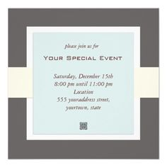 Simply formal corporate event invitations in black or navy hello clean and simple business event invitation stopboris Image collections
