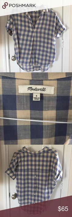 Madewell Blouse Great condition; worn once; buttons up the back Madewell Tops