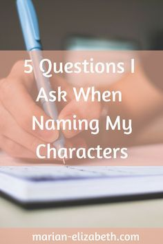 Picking names for your characters can be a challenge. I'm not a parent yet, but I can only imagine that it's as difficult as picking a name for your child. It's a duty that completely depends on you!