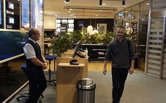 No boarding pass required for Andreas Sjöström, who becomes the first person to use new microchip technology to breeze through an airport