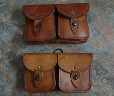 2 Surplus French Military Ammo Pouch sets by GalacticEmporium