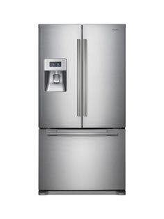 samsung refrigerator  Samsung Model # RF268ABRS, $2,499    Estimated yearly energy cost: $55  Capacity: 26 cubic feet  Also available in black or white for $2,199, or platinum for $2,399; lowes.com    Pros: Our top-rated model    Read more: French Door Refrigerators - Best Refrigerators - Good Housekeeping