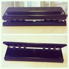 Confused about which hole punch to buy for your Filofax or other planner? Here's one that does multiple sizes! | http://www.meetmeatthewatershed.com/review-kw-trio-adjustable-6-hole-punch/