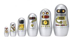 Robot nesting dolls on Amazon