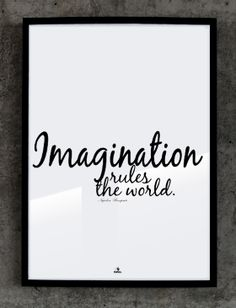Plakat №149: Imagination rules the world. Napoleon Bonaparte
