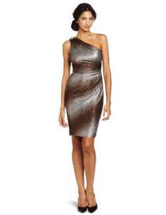 Maggy London Women s One Shoulder Texture Knit Dress  Clothing 3d615b744