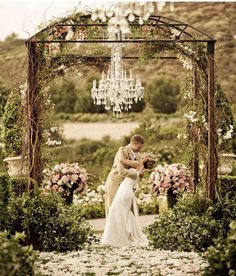 Romantic set up for vintage style
