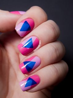 Rock these nails straight from the '80s. #nail #nailart