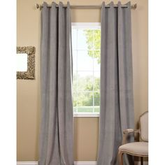 Buy Signature Silver Grey Grommet Blackout Velvet Curtains and drapes at best price. Find Signature Blackout Velvet Curtains for home decor. Home Curtains, Velvet Curtains, Panel Curtains, Brown Furniture, Home Decor Furniture, Paint Furniture, Silver Grey Curtains, Gray Curtains, Best Wall Colors