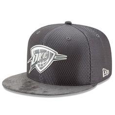 5625eb5e939 Men s Oklahoma City Thunder New Era Graphite Silver NBA Draft 59FIFTY  Fitted Hat