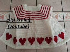 Crochet Baby, Knit Crochet, Baby Sweaters, Baby Knitting Patterns, Baby Dress, Christmas Sweaters, Youtube, Tops, Dresses