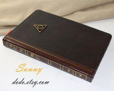 Harry Potter magic book iPad mini case,Leather iPad retina mini case,Deathly Hallows iPad 2/3/4 case,Vintage bronze symbol iPad Air case on Etsy, $24.98