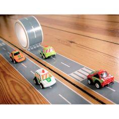 Tejp - My first Autobahn 33 m tejp inkl 1 bil, Bilbanetejp | Heminredning och inredning - inreda.com