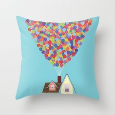 Up Throw Pillow by Lovemi - $20.00