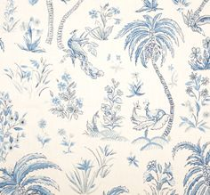 Lisa Fine textiles- a lovely tropical toile.