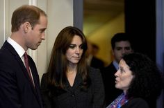 NewMyRoyals:  The Duke and Duchess of Cambridge visited the French Embassy and signed the book of condolences for those who died in the Paris Attacks, November 17, 2015-here the couple speak with French Ambassador to the UK Sylvie Bermann