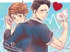 In a heartbeat imagenes Gay Lindo, Tumblr Gay, Cartoon As Anime, Ship Drawing, Gay Comics, Lgbt Love, Wow Art, Love Images, Cute Gay