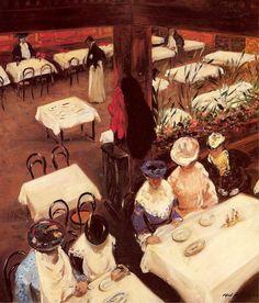 In a Cafe - Alfred Henry Maurer,  1905.  Eva's blog
