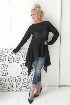 AMALFI QUEEN Linen Tunic, BLACK