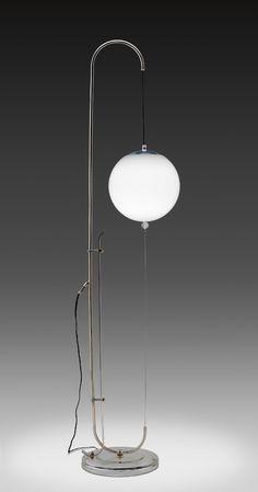 Standard Lamp,1926 - Wilhelm Wagenfeld, designer; Metallwerkstatt des Staatlichen Bauhauses, manufacturer