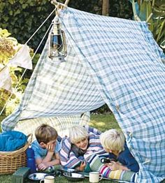 DIY: Outdoor play tent