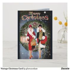 Shop Vintage Christmas Card created by glamourdaze. Vintage Christmas Cards, Holiday Cards, Christmas Gifts, Christmas Decorations, Christmas Trees, Christmas Shopping, Invitation Cards, Vintage Shops, Paper Texture