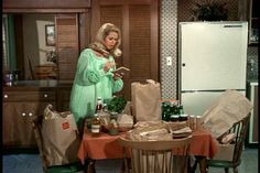 Samantha in the Bewitched kitchen, her mother, tells Darrin that he'll never be able to pronounce her last name, so we never get to find out what the name is!