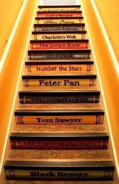 What would make this even better? There being a library at the top of the stairs! :D