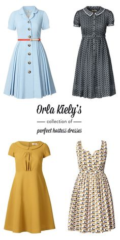 Sugar and Charm: orla kiely's perfect hostess dresses (eons outside of my price range, but still cute and vintagy)