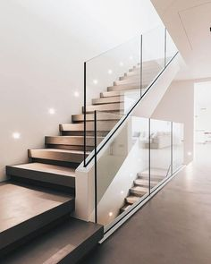 Modern Staircase Design Ideas - Stairs are so usual that you don't provide a second thought. Check out best 10 instances of modern staircase that are as sensational as they are . stairs Top 10 Unique Modern Staircase Design Ideas for Your Dream House Home Stairs Design, Railing Design, Interior Stairs, Room Interior Design, Railing Ideas, Stair Design, Staircase Ideas, Staircase Glass Design, Staircase Design Modern