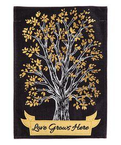 Look at this #zulilyfind! Love Grows Here Burlap Garden Flag #zulilyfinds