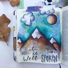 Bible Journaling by @jesus.lovin.art.teacher                                                                                                                                                                                 More