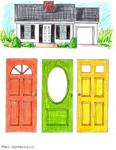 best front door colors for white house | Picking a Color for Your Front Door | Fred Gonsowski Garden Home