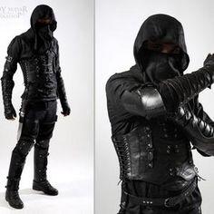 Rogue Costume, Assassin Costume, Corsage, Modern Assassin, Costume Original, Ninja Suit, Female Armor, Leather Armor, Fantasy Armor