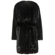 The Row - Narston fur coat - The Row once again impress with their purist aesthetic with the 'Narston'. Turning minimalism into the height of luxury, this coat is crafted in a classic robe shape, cut from a noble, iridescent black mink fur. An understated essential, this one will be a favourite for seasons to come. seen @ www.mytheresa.com